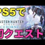 【PS5】アイスボーンでPS5の力を感じる動画