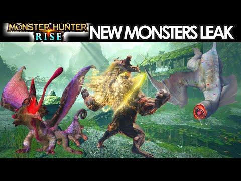 Monster Hunter Rise NEW MONSTERS LEAK GAMEPLAY NEWS Nintendo Switch モンスターハンターライズ 新しいモンスターとエリアリーク