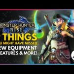 Monster Hunter Rise | 9 Things You Might Have Missed – New Equipment, Creatures & More!