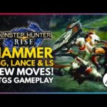 Monster Hunter Rise | First Look At Hammer, LBG, Lance & Long Sword New Moves & TGS Gameplay