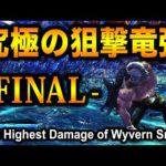 【MHWI】出るか最高ダメージ!?究極の狙撃竜弾 FINAL / Final Challenge The Highest Damage of Wyvern Snipe【アイスボーン】