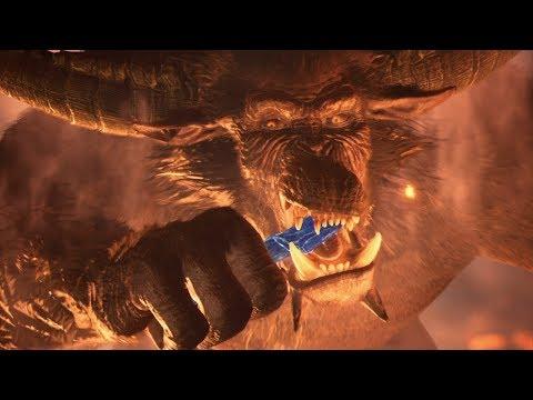 【MHWIアイスボーン】キリンの角を食べるラージャン。生態ムービー【モンハンワールドアイスボーン 】