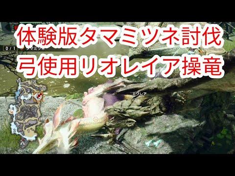 【MHRise】体験版 弓でタマミツネ討伐 レイア操竜【モンハンライズ】