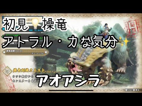 【MHRise】体験版アオアシラ操竜クエスト🧸チャージアックス🪓モンハンライズ🌅基礎訓練クエスト📖チュートリアル🎮switch
