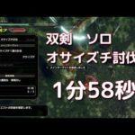 【MHRise】オサイズチ双剣1分58秒【タイムアタック】
