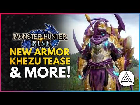 Monster Hunter Rise   First Khezu Clip, New Armor Showcase & More!