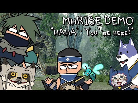 MHRise Shots: HAHA! you're here! (💥MHRise Demo tutorial in a nutshell💥)