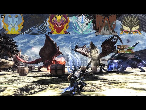 MHW Elder Dragon Turf War / 古龍種の縄張り争い全集 【モンハンワールド】