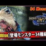 【MHRise】全34種!新モンスター・復活モンスターまとめ【モンハンライズ】