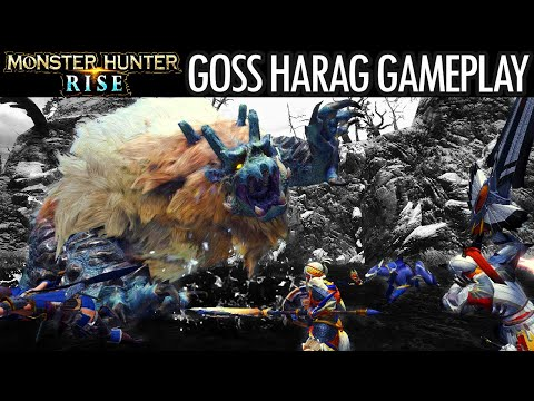 Monster Hunter Rise GOSS HARAG GAMEPLAY COMBAT SHOWCASE BATTLE TRAILER モンスターハンターライズ ゴシャハギ 戦闘 ゲームプレイ