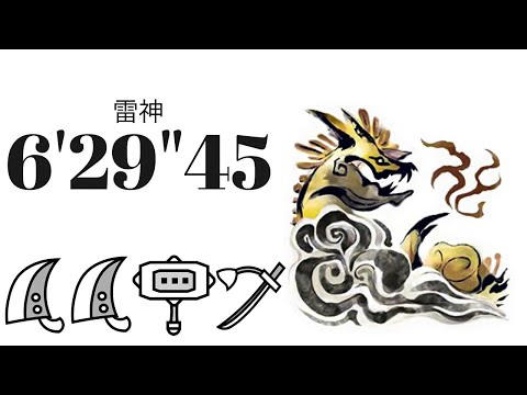 "【MHRise】ナルハタタヒメ 双剣 ソロ 6'06""65/Thunder Serpent Narwa Dual Blades Solo"