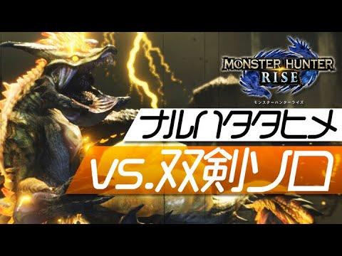 【モンハンライズ】ラスボス「雷神龍ナルハタタヒメ」vs 双剣【MHRise】
