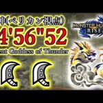 【MHRise】ナルハタタヒメ 大剣ペア 04'56″52 /Serpent Goddes of Thunder GreatSword Duo