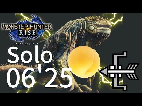 【モンハンライズ】ラスボス ナルハタタヒメ 弓ソロ 06'25 | Final Boss Thunder Serpent Narwa Solo 06'25 bow