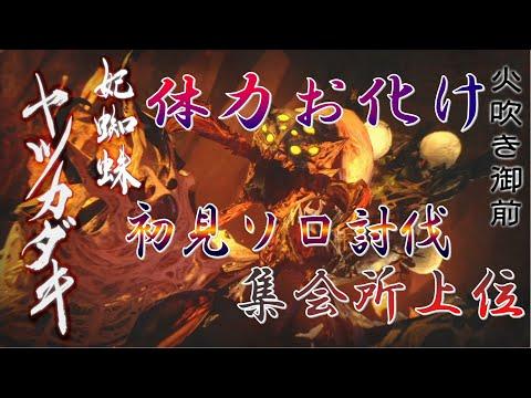 【MHRise】体力お化け 集会所上位 ヤツカダキ初見討伐 一般人のハンマーソロ