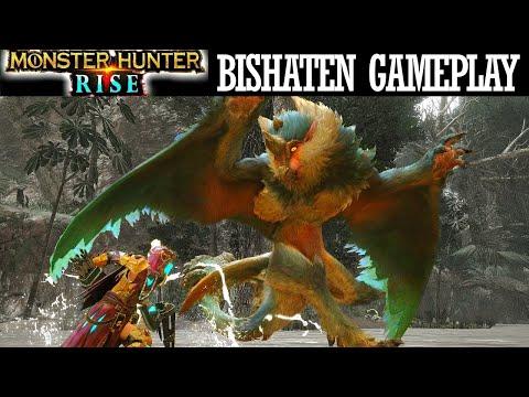 Monster Hunter Rise BISHATEN BATTLE COMBAT FOOTAGE GAMEPLAY モンハンライズ ビシュテンゴ 弓 重いボウガン ゲームプレイ 新着