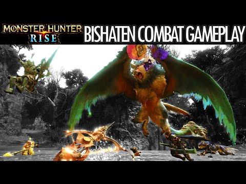 Monster Hunter Rise BISHATEN GAMEPLAY COMBAT SHOWCASE BATTLE TRAILER モンスターハンターライズ ビシュテンゴ 戦闘 ゲームプレイ