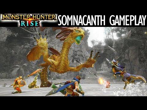 Monster Hunter Rise SOMNACANTH BATTLE COMBAT FOOTAGE GAMEPLAY TRAILER モンハンライズ イソネミクニ 戦闘 戦い ゲームプレイ