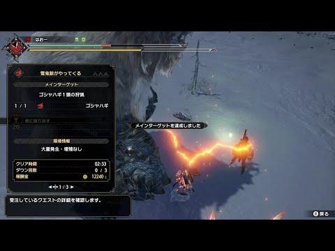 【MHRise】上位ゴシャハギ ライトボウガン(徹甲榴弾&斬裂弾) 2分33秒