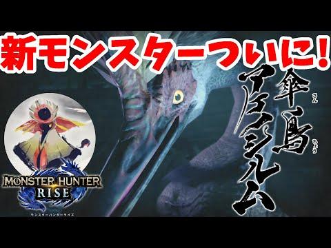 【モンハンライズ】新モンスター!傘鳥アケノシルム狩猟!里緊急クエスト【モンスターハンターライズ】