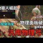【MHRise】汎用物理弓配裝分享|面板攻擊破300|羽飾不用|首領雌火輕鬆刷|瞄準練習方式說明